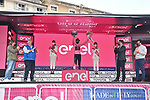 Race leader Egan Bernal (COL) Ineos Grenadiers retains the Maglia Rosa at the end of Stage 15 of the 2021 Giro d'Italia, running 147km from Grado to Gorizia, Italy and Slovenia. 23rd May 2021.  <br /> Picture: LaPresse/Massimo Paolone | Cyclefile<br /> <br /> All photos usage must carry mandatory copyright credit (© Cyclefile | LaPresse/Massimo Paolone)