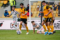 23rd May 2021; Molineux Stadium, Wolverhampton, West Midlands, England; English Premier League Football, Wolverhampton Wanderers versus Manchester United; Rubén Neves of Wolverhampton Wanderers brings the ball out of defence