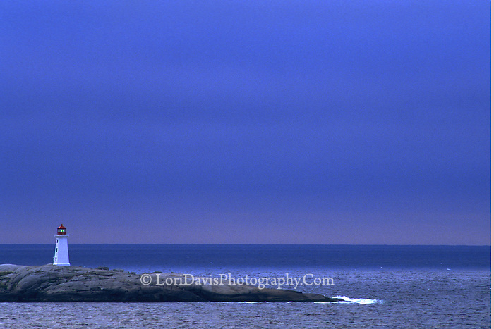 Dawn at Peggy's Cove Lighthouse, Nova Scotia  #LH8
