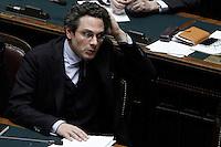 Il Vice Ministro del Lavoro Michel Martone.Roma 25/01/2012 Voto alla Camera dei Deputati per la mozione unitaria sulla politica europea dell'Italia.Foto Insidefoto Serena Cremaschi