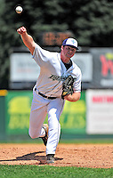 15 July 2010: Vermont Lake Monsters' pitcher Aaron Barrett on the mound against the Aberdeen IronBirds at Centennial Field in Burlington, Vermont. The Lake Monsters rallied in the bottom of the 9th inning to defeat the IronBirds 7-6 notching their league leading 20th win of the 2010 NY Penn League season. Mandatory Credit: Ed Wolfstein Photo