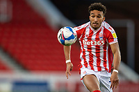 31st October 2020; Bet365 Stadium, Stoke, Staffordshire, England; English Football League Championship Football, Stoke City versus Rotherham United; Jacob Brown of Stoke City with his eye on the ball