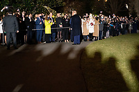 United States President Donald J. Trump greets visitors as he departs the White House en route to Dalton, Georgia, in Washington D.C., U.S., on Monday, January 4, 2021.<br /> CAP/MPI/RS<br /> ©RS/MPI/Capital Pictures
