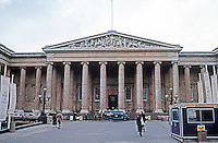 London: British Museum--Facade. Great Russell St. Sir Robert Smirks and Others, 1823-47.  Photo '90.