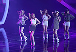 """LADIES' CODE, Jul 24, 2014 : South Korean girl group Ladies' Code perform at the 10th anniversary live special of weekly music chart show, """"M! Countdown"""" of Mnet in Goyang, north of Seoul, South Korea. (Photo by Lee Jae-Won/AFLO) (SOUTH KOREA)"""