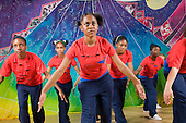 Paddington Arts 11-16 year olds dance group rehearsing for the summer show at the youth performing arts project.