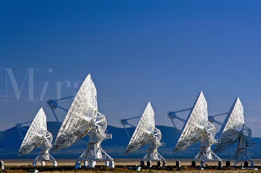 USA, New Mexico, Socorro. Very Large Array (world's largest radio telescope) VLA