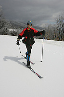 Skiing on the Blue Ridge Parkway in Nelson County, Va. Credit Image: © Andrew Shurtleff