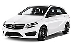 2018 Mercedes Benz B Class Base 5 Door Hatchback angular front stock photos of front three quarter view