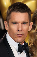 HOLLYWOOD, LOS ANGELES, CA, USA - MARCH 02: Ethan Hawke at the 86th Annual Academy Awards held at Dolby Theatre on March 2, 2014 in Hollywood, Los Angeles, California, United States. (Photo by Xavier Collin/Celebrity Monitor)