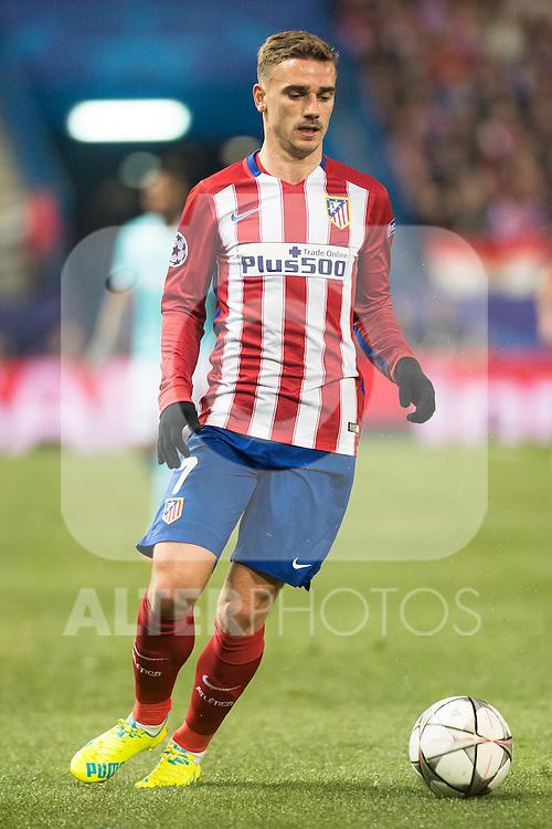 Atletico de Madrid's Antoine Griezmann during UEFA Champions League match. March 15,2016. (ALTERPHOTOS/Borja B.Hojas)