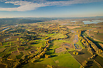 Aerial view of Sauvie's Island.
