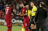 Orlando, FL - Friday Oct. 06, 2017: Jozy Altidore, Clint Dempsey during a 2018 FIFA World Cup Qualifier between the men's national teams of the United States (USA) and Panama (PAN) at Orlando City Stadium.