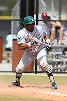 Slippery Rock Matt Howard #1 during a game vs. the Seton Hill Griffins at Lake Myrtle Field in Auburndale, Florida;  March 5, 2011.  Seton Hill defeated Slippery Rock 14-1.  Photo By Mike Janes/Four Seam Images