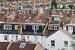 Roof extension loft convertion suburbian London Uk