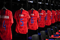 CHARLOTTE, NC - OCTOBER 03: The USWNT lockerroom prior to their game versus Korea Republic at Bank of American Stadium, on October 03, 2019 in Charlotte, NC.