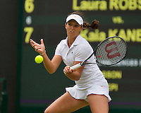 01-07-13, England, London,  AELTC, Wimbledon, Tennis, Wimbledon 2013, Day seven, Laura Robson (GBR)<br /> <br /> <br /> <br /> Photo: Henk Koster