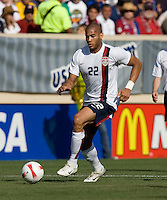 Oguchi Onyewu dribbles. The USA defeated China, 4-1, in an international friendly at Spartan Stadium, San Jose, CA on June 2, 2007.