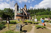 Stabholzkirche Wang in  Karpacz, Woiwodschaft Niederschlesien (Województwo dolnośląskie), Polen, Europa<br />  Stave Church Wang in Karpacz, Poland, Europe