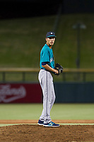 AZL Mariners relief pitcher Jorge Benitez (9) delivers a pitch to the plate against the AZL Cubs on August 4, 2017 at Sloan Park in Mesa, Arizona. AZL Cubs defeated the AZL Mariners 5-3. (Zachary Lucy/Four Seam Images)