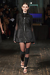 """Model Lana walks runway in an outfit from the Katie Gallagher Fall 2017 """"Hallow"""" collection, at 72 Allen Street on February 9, 2017 at New York Fashion Week Fall 2017."""