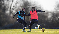 Michael Harriman of Wycombe Wanderers & Paris Cowan-Hall of Wycombe Wanderers during the Wycombe Wanderers Training session at Wycombe Training Ground, High Wycombe, England on 17 January 2019. Photo by Andy Rowland.