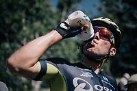 Michael Albasini (AUS/Orica-Scott) leveling fluid levels after finishing<br /> <br /> 104th Tour de France 2017<br /> Stage 5 - Vittel › La Planche des Belles Filles (160km)