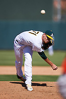 Oakland Athletics pitcher Casey Meisner (71) during an Instructional League game against the San Francisco Giants on October 5, 2016 at Fitch Park in Mesa, Arizona.  (Mike Janes/Four Seam Images)