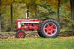 Vintage 1960 Farmall tractor.