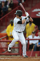 Center Fielder Evan Marzilli #31 of the South Carolina Gamecocks swings at a pitch during a game against the South Carolina Gamecocks at Carolina Stadium on March 3, 2012 in Columbia, South Carolina. The Gamecocks defeated the Tigers 9-6. Tony Farlow/Four Seam Images.