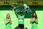 Peter Sagan (SVK) Bora-Hansgrohe retains the points Green Jersey at the end of Stage 13 of the 2019 Tour de France an individual time trial running 27.2km from Pau to Pau, France. 19th July 2019.<br /> Picture: ASO/Alex Broadway | Cyclefile<br /> All photos usage must carry mandatory copyright credit (© Cyclefile | ASO/Alex Broadway)