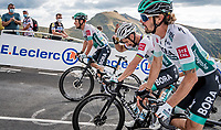 Peter Sagan (SVK/Bora-Hansgrohe) clearing some helmet-sweat up the Puy Mary (uphill finish)<br /> <br /> Stage 13 from Châtel-Guyon to Pas de Peyrol (Le Puy Mary) (192km)<br /> <br /> 107th Tour de France 2020 (2.UWT)<br /> (the 'postponed edition' held in september)<br /> <br /> ©kramon