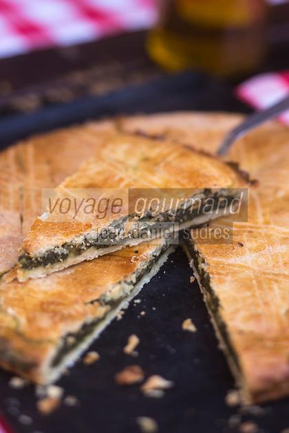 Europe/France/Provence-Alpes-Côte d'Azur/Alpes-Maritimes/ Nice :  Tourta de blea nissarda , tourte de blettes sucrée niçoise,  // Europe, France, Provence-Alpes-Côte d'Azur, Alpes-Maritimes, Nice:  Nice sweet chard pie,