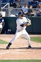 July 18, 2010: Everett AquaSox's Robert Anston (3) at-bat during a Northwest League game against the Eugene Emeralds at Everett Memorial Stadium in Everett, Washington.