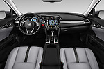 Stock photo of straight dashboard view of 2018 Honda Civic Touring CVT 4 Door Sedan Dashboard