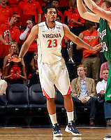 CHARLOTTESVILLE, VA- NOVEMBER 26:  Mike Scott #23 of the Virginia Cavaliers during the game on November 26, 2011 at the John Paul Jones Arena in Charlottesville, Virginia. Virginia defeated Green Bay 68-42. (Photo by Andrew Shurtleff/Getty Images) *** Local Caption *** Mike Scott