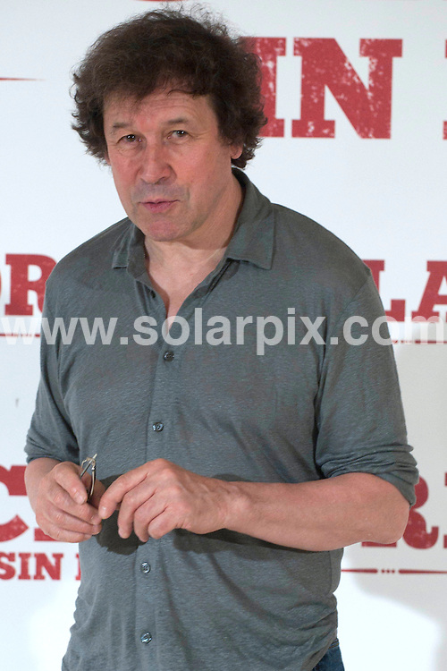 """**ALL ROUND PICTURES FROM SOLARPIX.COM**                                             **WORLDWIDE SYNDICATION RIGHTS EXCEPT SPAIN - NO SYNDICATION IN SPAIN**                                                                                  Madrid. Spain. Princesa Cinema. .Irish actor Stephen Rea, the Spanish actor Eduardo Noriega and the director Mateo Gil attend the photocall for new movie """"Blackthorn: Without Detiny""""                                                                         .This pic:     Stephen Rea                                                                                        JOB REF:    13636    DMS       DATE:   28.06.11                                                         **MUST CREDIT SOLARPIX.COM OR DOUBLE FEE WILL BE CHARGED**                                                                      **MUST AGREE FEE BEFORE ONLINE USAGE**                               **CALL US ON: +34 952 811 768 or LOW RATE FROM UK 0844 617 7637**"""