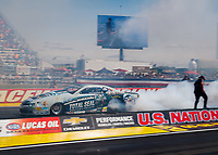 Sep 2, 2017; Clermont, IN, USA; NHRA pro stock driver Matt Hartford during qualifying for the US Nationals at Lucas Oil Raceway. Mandatory Credit: Mark J. Rebilas-USA TODAY Sports