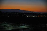 SAN JOSE, CA - OCTOBER 28: Sunset before a game between Real Salt Lake and San Jose Earthquakes at Earthquakes Stadium on October 28, 2020 in San Jose, California.