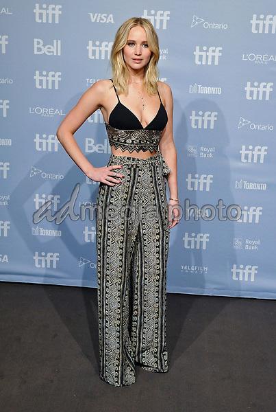 "10 September 2017 - Toronto, Ontario Canada - Jennifer Lawrence. 2017 Toronto International Film Festival - ""mother!"" Press Conference held at TIFF Bell Lightbox. Photo Credit: Brent Perniac/AdMedia"