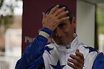 Winning jockey of Reliable Man, Gérald Mossé