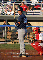 August 19, 2003:  Ryan Garko of the Mahoning Valley Scrappers, Class-A affiliate of the Cleveland Indians, during a NY-Penn League game at Dwyer Stadium in Batavia, NY.  Photo by:  Mike Janes/Four Seam Images