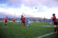 Canterbury throws in to a lineout during the rugby union match between Canterbury and the All Blacks at Hutt Recreation Ground, Wellington, New Zealand on Friday, 9 August 2013. Photo: Dave Lintott / lintottphoto.co.nz