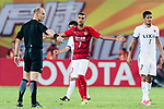 Guangzhou Forward Alan Douglas De Carvalho (C) gestures during the AFC Champions League 2017 Round of 16 match between Guangzhou Evergrande FC (CHN) vs Kashima Antlers (JPN) at the Tianhe Stadium on 23 May 2017 in Guangzhou, China. (Photo by Power Sport Images/Getty Images)
