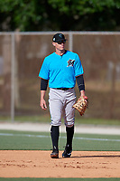 Miami Marlins first baseman Peter O'Brien during a Minor League Spring Training Intrasquad game on March 28, 2019 at the Roger Dean Stadium Complex in Jupiter, Florida.  (Mike Janes/Four Seam Images)