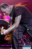 Feb 06, 2009 - Oakland, California, United States -  MIKE NESS and his band, Social Distortion perform at the newly remodeled Fox Theater in Oakland, California Friday February 6, 2009. Social Distortion played the first live show at the theater in over 35 years as it has been vacant for decades. .(Credit Image: © Alan Greth/ZUMA PRESS)