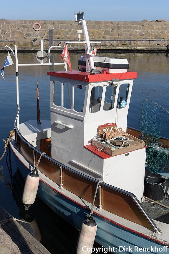 Hafen von Sandvig auf der Insel Bornholm, Dänemark, Europa<br /> Port of Sandvig, Isle of Bornholm, Denmark
