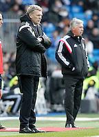 Real Madrid's coach Carlo Ancelotti (r) and Real Sociedad's coach David Moyes during La Liga match.January 31,2015. (ALTERPHOTOS/Acero) /NortePhoto<br /> /NortePhoto.com