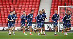 Scotland players training at Hampden