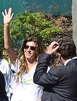 RIO DE JANEIRO-04/06/2012-A Top Model Gisele Bundchen comparece na manha desta segunda feira ao Green Nation Fest na Quinta da Boa Vista, zona norte do Rio.Foto:Marcelo Fonseca-Brazil Photo Press